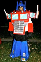 My Optimus Prime Halloween Costume